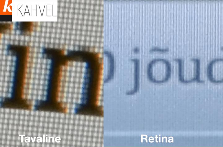 Tavaline vs Retina
