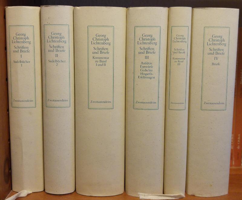 Die gesammelten Werke: Sudelbücher und Briefe