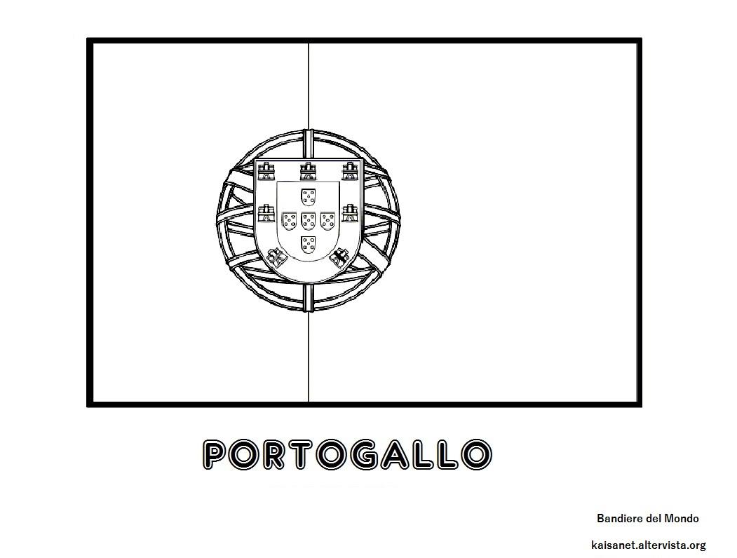 Bandiera Portogallo Da Colorare