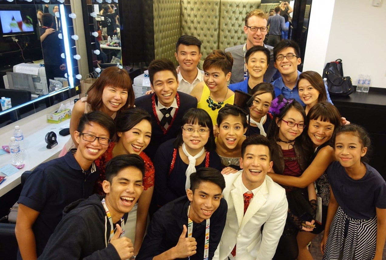 A post-performance self-congratulatory we-fie with a few of the Cast and Creative team members, 2015 ASEAN Para Games Opening Ceremony. Richard Wright (back) was in the Communications team as writer and copyeditor.