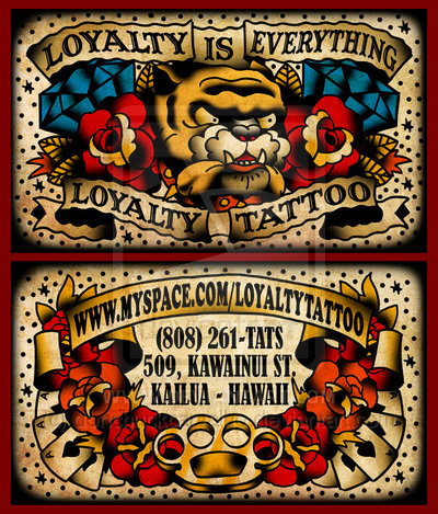 Business cards for tattoo artists - Kaizen Print - Inspire  Support