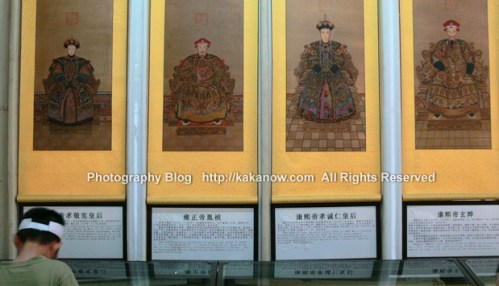 Emperor and Queen's portrait in the summer palace in Beijing, China. Photo by KaKa.