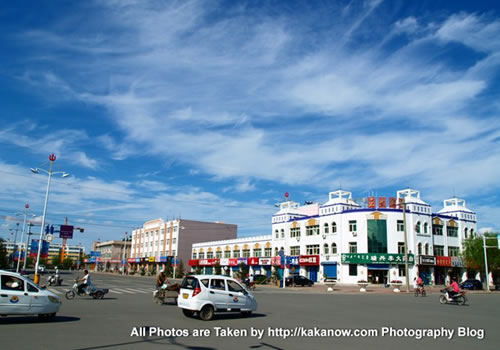 China travel, Inner Mongolia, Horqin, a small town. Photo by KaKa.