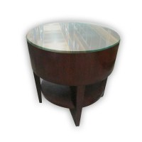 Round Side Table with Glass Top | Kaki Lelong - Everything ...