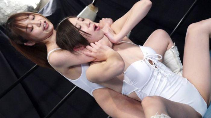 篠田ゆうが有馬優羽にチョーク!「お゛お゛・・・」と悲鳴がヤバい!
