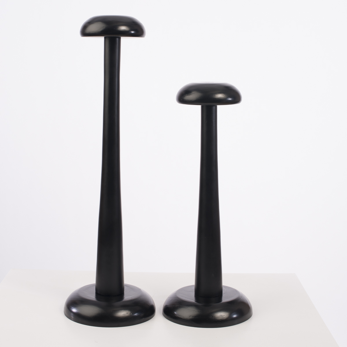 Hat Stand Black 2 Pieces Set Modern Wood Hat Stand Stand4set Bk Sun