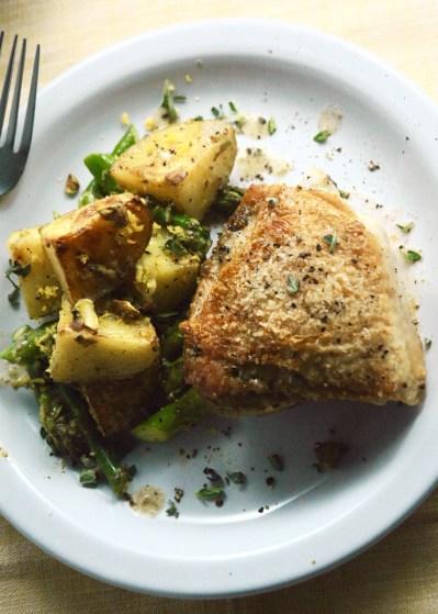 Creamy Za'atar Potatoes & Pan-Roasted Chicken – Kale & Compass