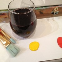 The Painted Cabernet: Getting classy drunk with a paintbrush
