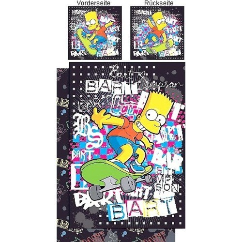 The Simpsons Bettwäsche Quot Bart Graffiti Quot