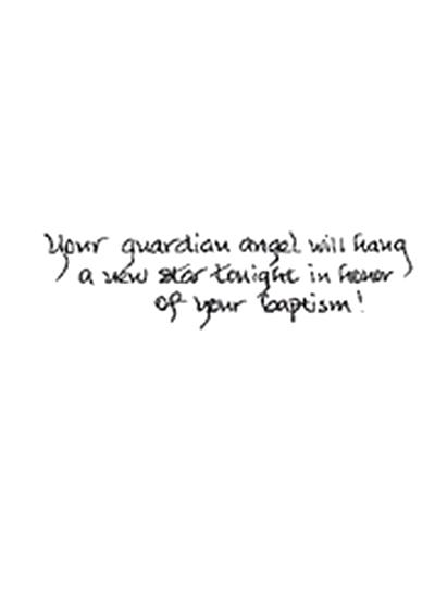 Handmade Angel Baptism Card
