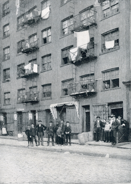 Syrian tenement at 25-27 Washington Street, near Battery Park.