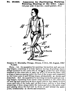 Patent application for walking device