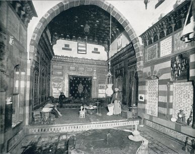 A rare interior shot of a replica of a Damascus merchant's house, Turkish Village