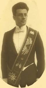 George A. Fuleihan in his 32nd Degree Masonic regalia, ca. 1921. He was Grand Master of Damascus Lodge.