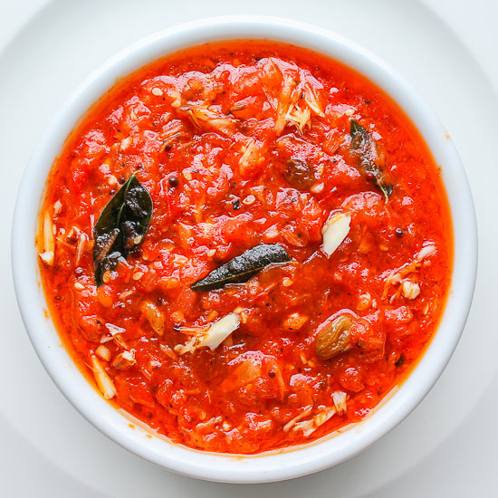 how to make tomato chutney in microwave