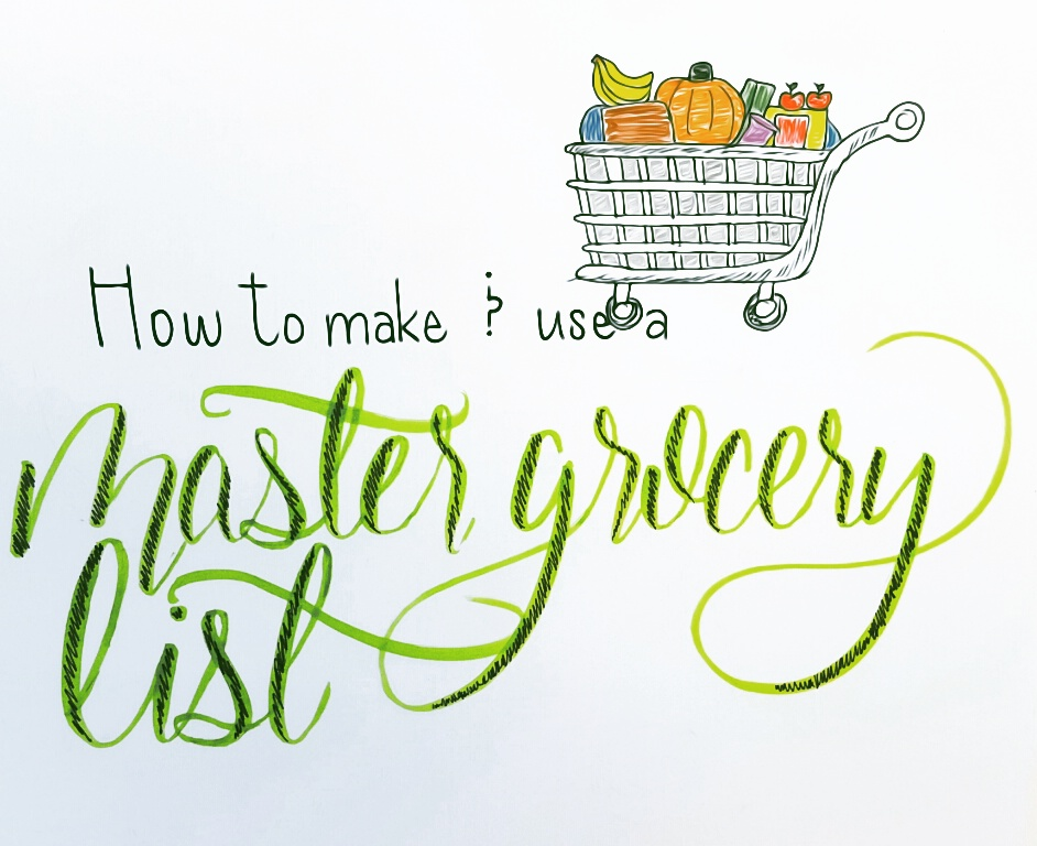 Creating  Using a Master Grocery List \u2013 Kallie Schaefer - master grocery list