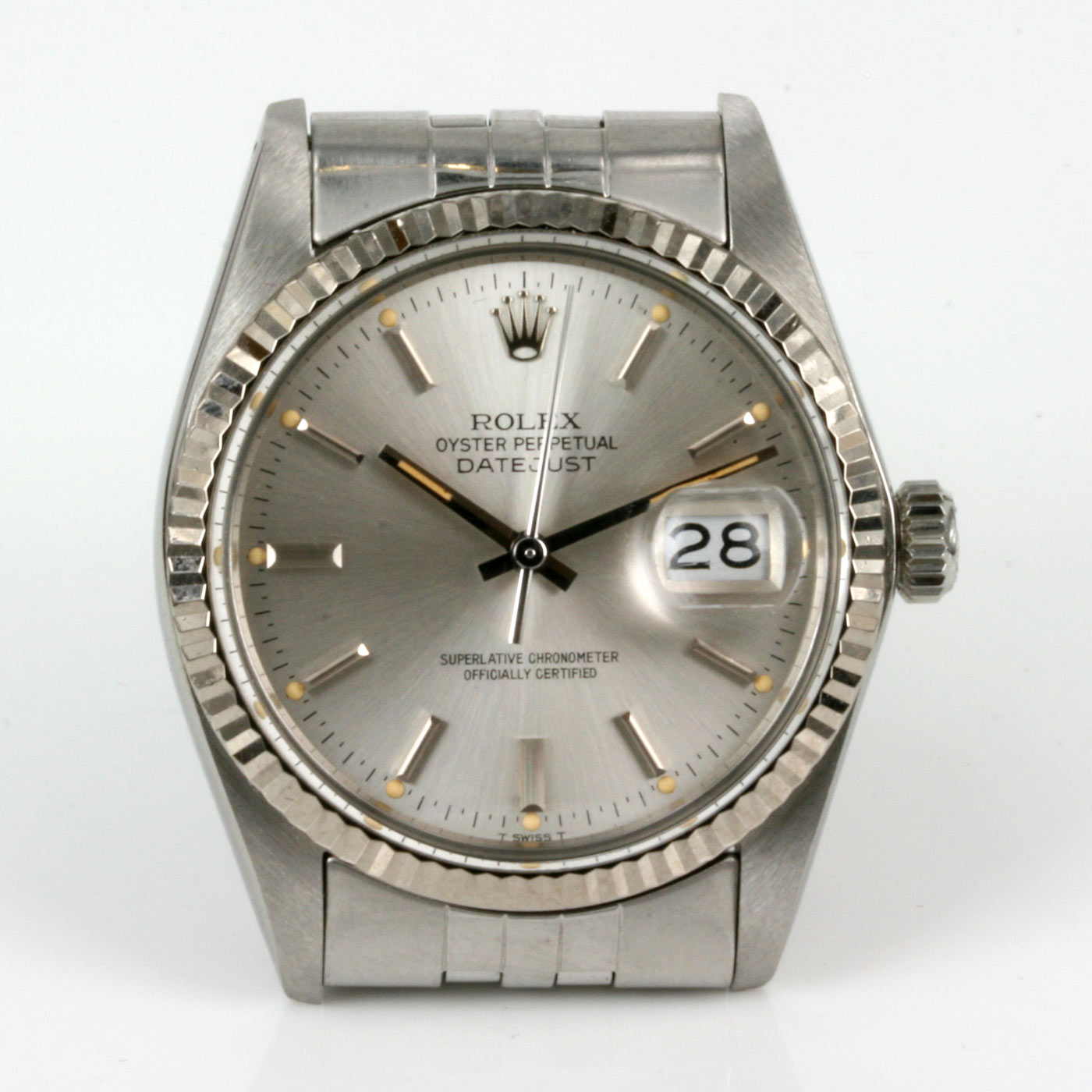Rolex Second Hand Buy Second Hand Gents Rolex Datejust Model 16014 Sold Items Sold