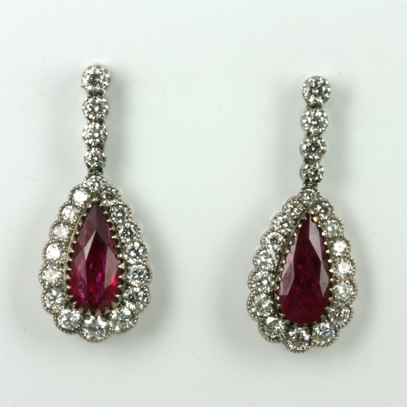 Drop Design Buy Drop Design Ruby And Diamond Earrings Sold Items Sold
