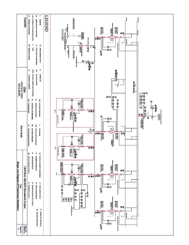 hydro power plant single line diagram