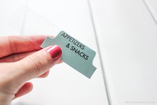 DIY Divider Tabs - The Easiest Trick for Binder Organization - folder dividers tabs