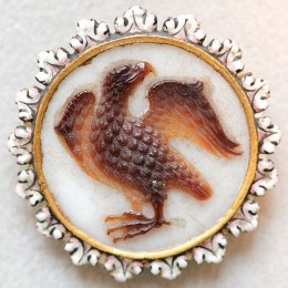Sardonyx cameo of an eagle