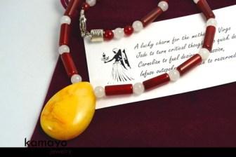 Virgo Necklace - Yellow Jade Pendant