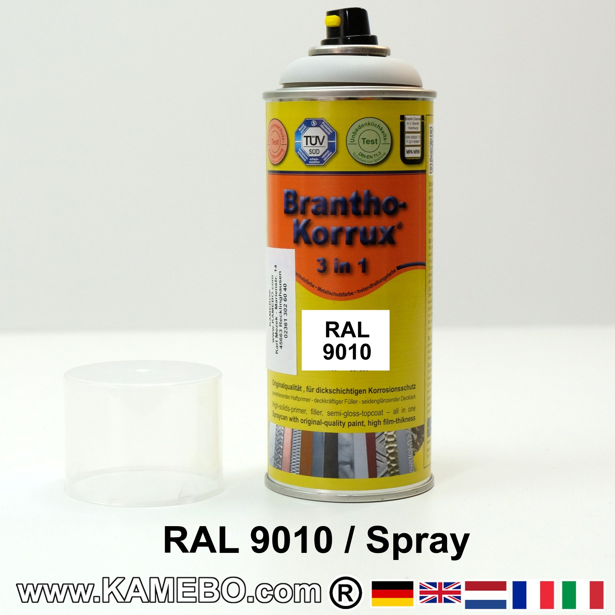 Latex Ral 9010 Brantho Korrux 3in1 Anti Rust Coating Ral 9010 Spray Pure White 400 Ml