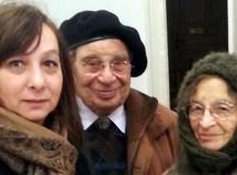 Garai-Édler Eszter Vámos Tiborral és Heller Ágnes. Eszter mellett idén Heller Ágnest is kitüntetik Radnóti Miklós Antirasszista-díjjal.