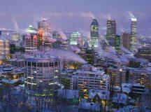 Montreál belvárosa télen, a Mount Royalról nézve. Fotó: National Geographic.