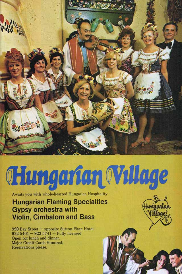 Hungarian Village. Forrás:  Key to Toronto.