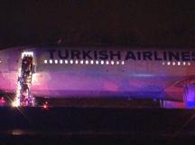 Turkish Airlines járat vasárnap hajnalkor a Halifax-i repülőtéren. Fotó: CTV.