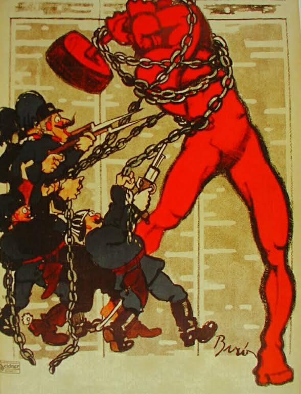 Bíró Mihály híres vörös kalapácsos embere.