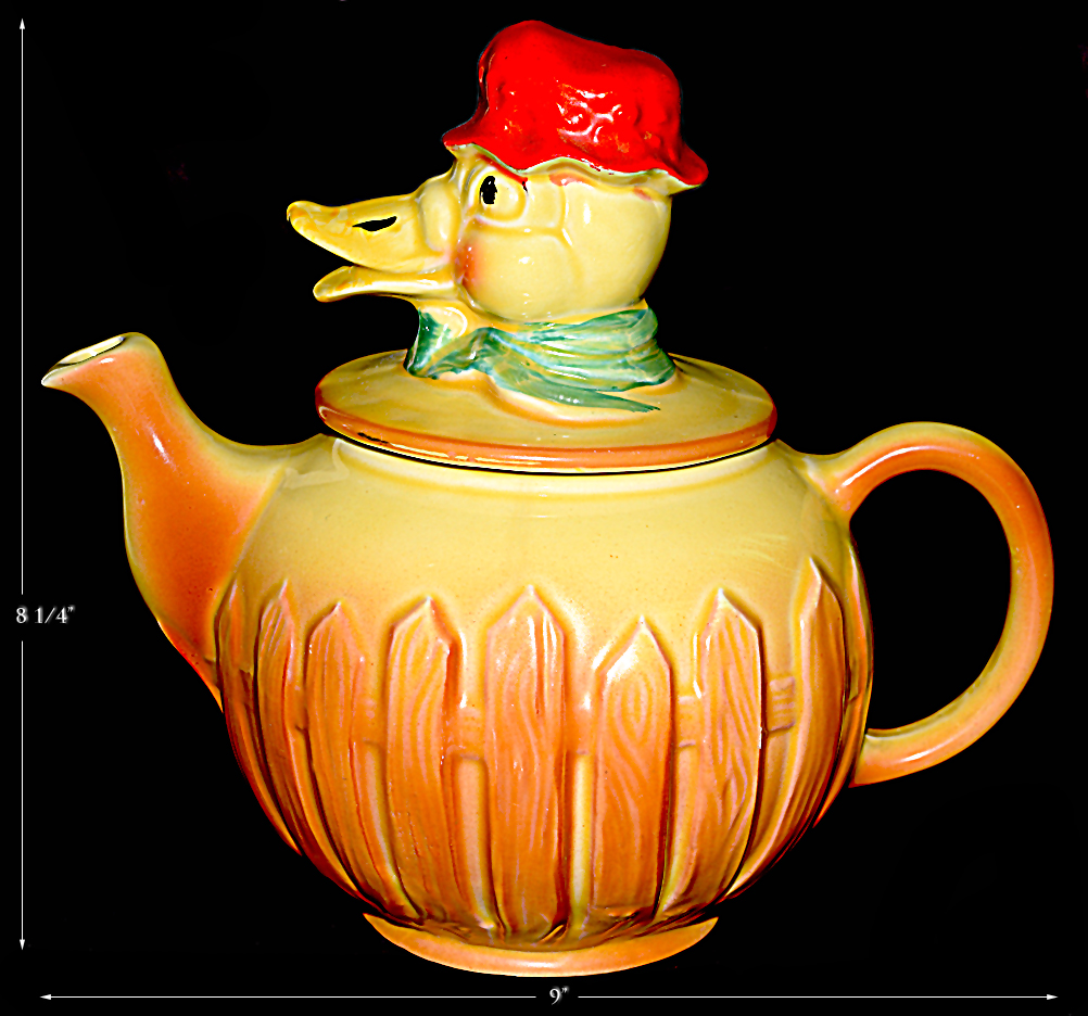Vintage Metallregal Regal #391 Farm Series Old Mcdonald Farm Duck Teapot - Vintage - Perfect