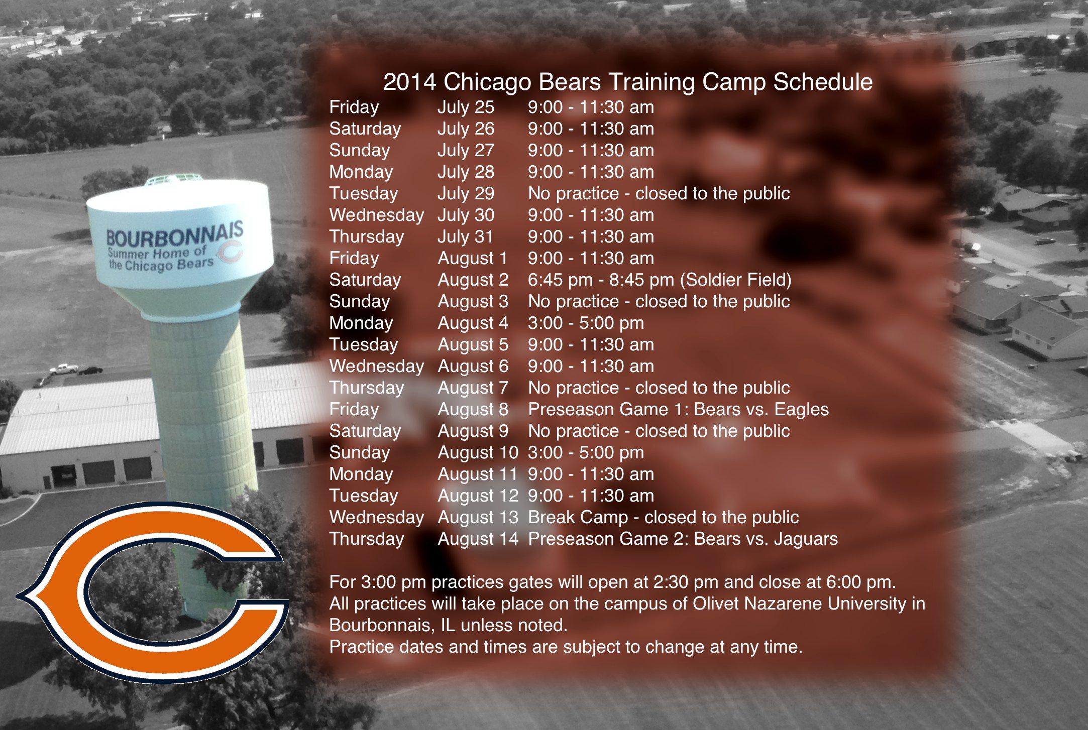 Chicago Bears 2014 2015 Schedule