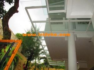 pemasangan kanopi kaca