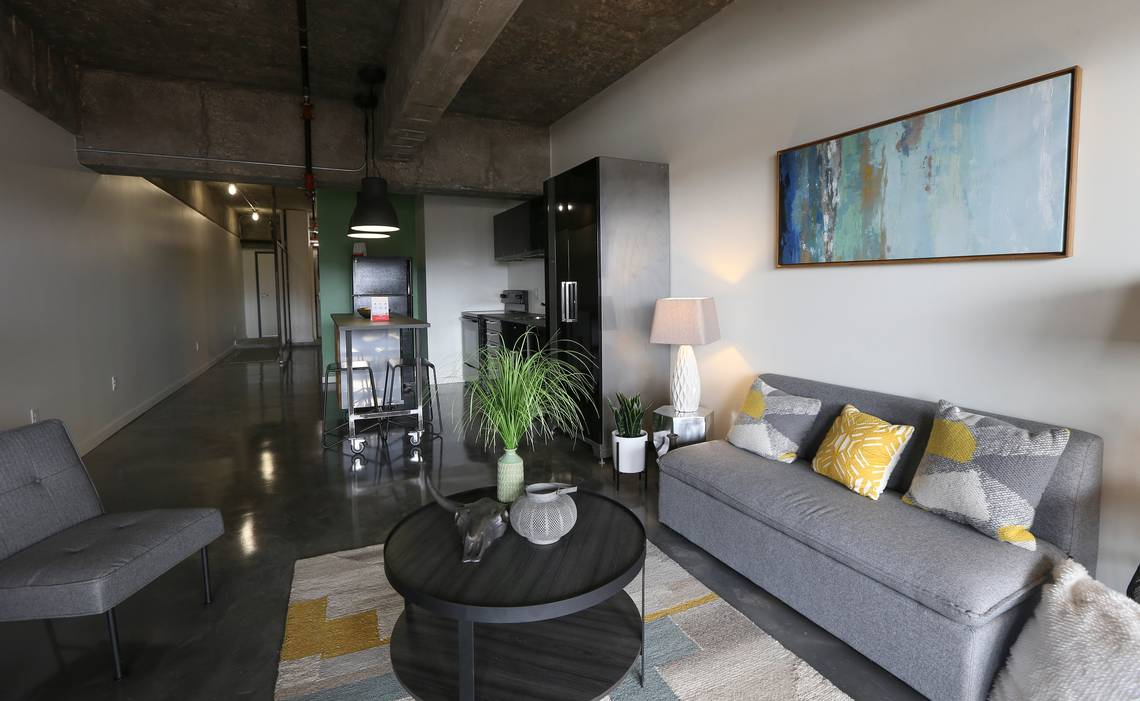 Garage Apartment Example Wichita Living Parking Garage Converted To Loft Apartments The