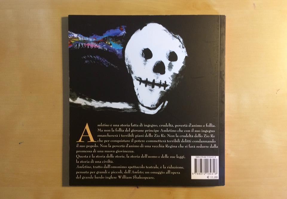 Amletino, il libro (retro coperta)