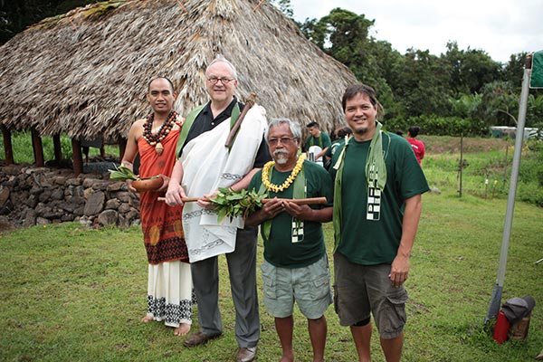 Hanalei Marzan, Doug Dykstra, Palani Sineci and Kalawaia (Peter) Moore