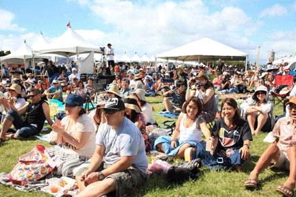 The 'Ukulele Picnic is a popular event that draws a large crowd to enjoy the entertainment – Courtesy of Crystal Yamasaki