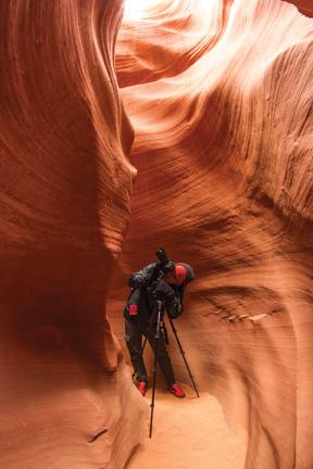 Lum sets up a shot at Antelope Canyon in Arizona – Courtesy of Chase Lum