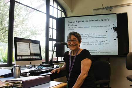 Professor Ellen Ishida-Babineau retires at the end of the semester after nearly three decades at WCC – Photo by Patrick Hascall