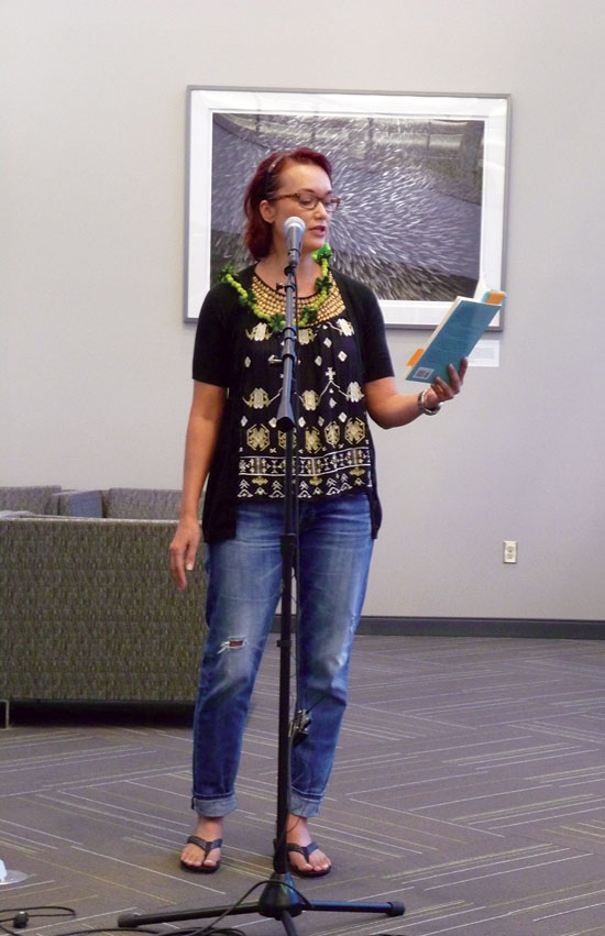 Local poet Christy Passion reads from her debut collection Still Out of Place –Itzel Contreras Mendez