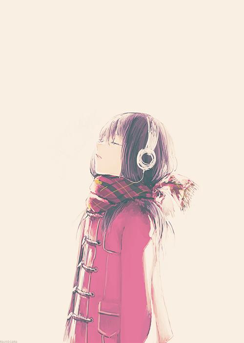 Thinking Girl Wallpaper Gallery Anime Art Lockscreen Part 2 Kaoruri