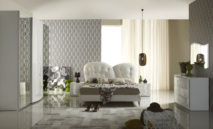 Schlafzimmer Modern - schlafzimmer creme wei