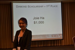 Diamond Scholarship Winner $1 | Joie Ha