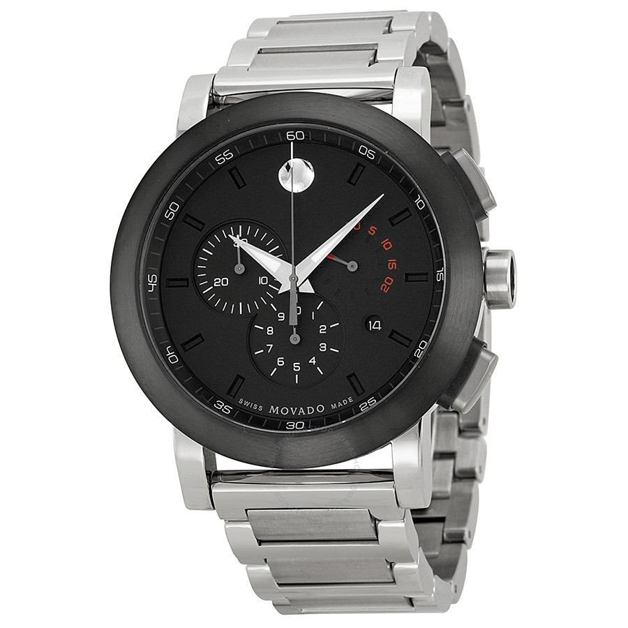 Steel Watch 0606792 Movado Museum Chronograph Stainless Steel Men S Watch