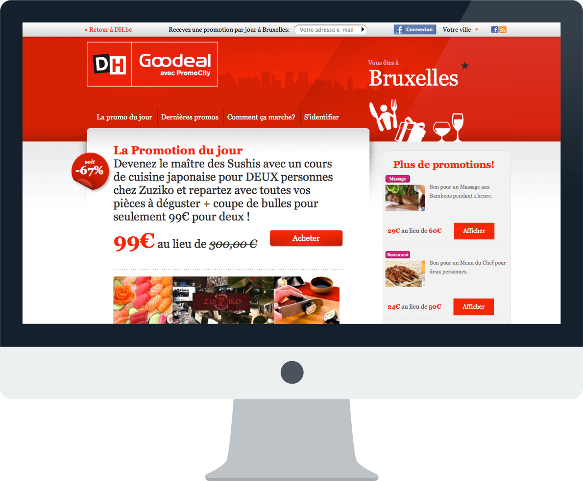 La Libre Belgique Promocity And Goodeal Logos Pages Web And Annonces Journaux