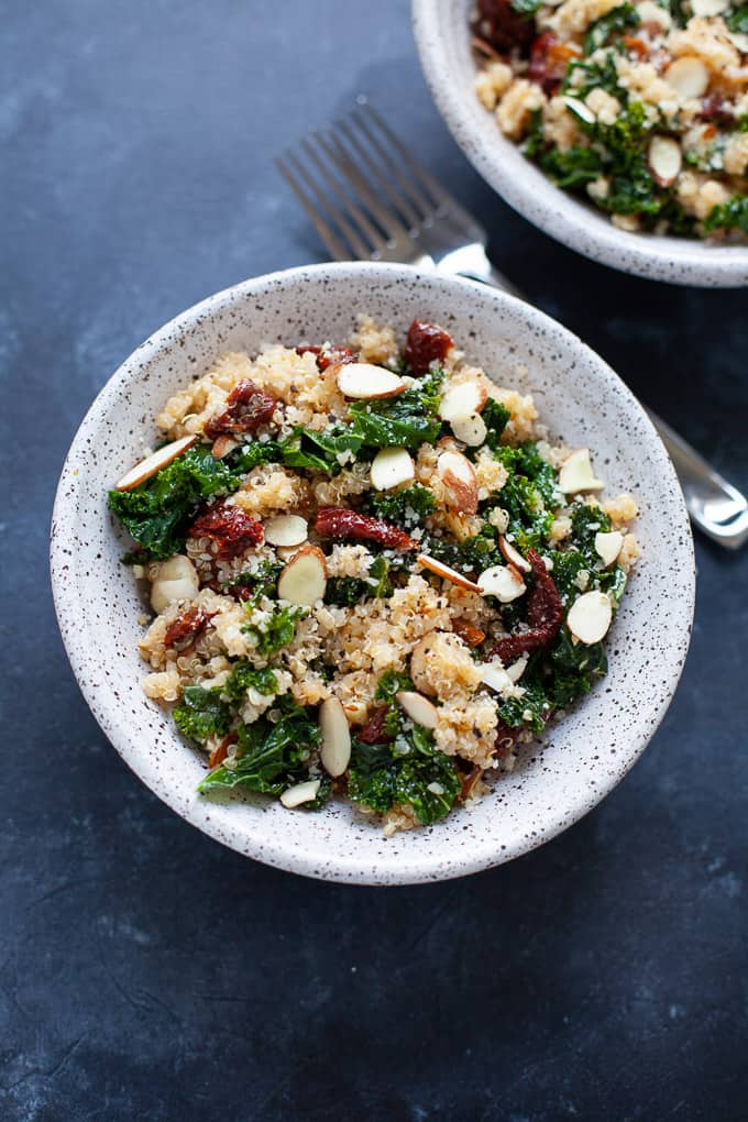 5 Ingredient Healthy Kale and Quinoa Bowl Kara Lydon