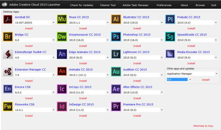 Adobe Master Collection 2016