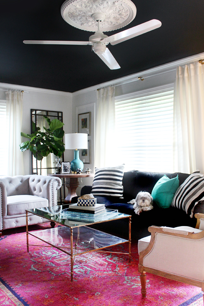 Black Ceiling Fan You Know I'm All About The…black Ceilings | Kara Paslay Design